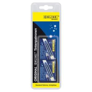 Patroane cerneala ONLINE, 2 x 6 rezerve, albastru