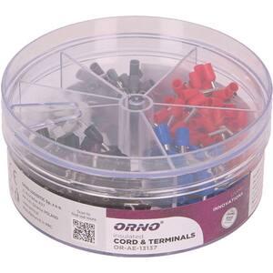 Set pini terminali ORNO OR-AE-13137, 0.50 mm - 2.50 mm, 400 buc, multicolor