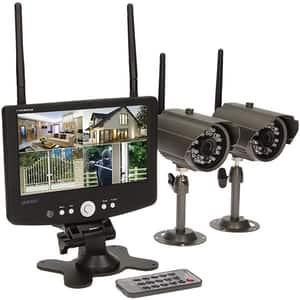Kit supraveghere video ORNO OR-MT-JE-1801, 2 camere HD 720p, Monitor, 4 canale, gri-negru