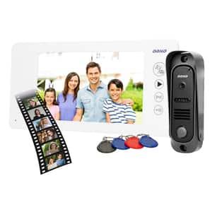 Interfon video cu fir ORNO OR-VID-JS-1053/W,LCD, 7 inch, alb-negru