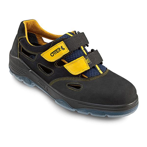 Sandale de protectie OTTER S1 SRC, bombeu metalic, piele nabuc, marimea 43, negru