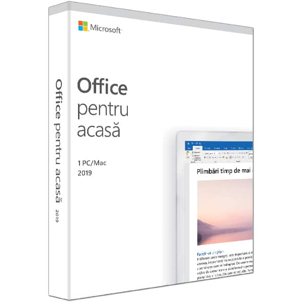 Microsoft Office Home and Student 2019, Romana, 1 PC/Mac