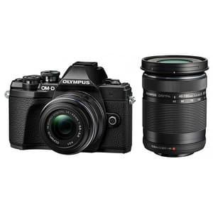 Aparat foto Mirrorless OLYMPUS E-M10III, 16.1 MP, 4K, Wi-Fi, Double zoom Kit, negru