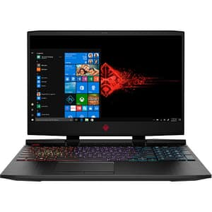 "Laptop Gaming Omen by HP 15-dc1001nq, Intel Core i5-8300H pana la 4.0GHz, 15.6"" Full HD, 8GB, SSD 256GB, NVIDIA GeForce RTX 2060 6GB, Windows 10 Home, negru"