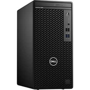Sistem Desktop DELL OptiPlex 3080 Tower, Intel Core i5-10500 pana la 4.5GHz, 8GB, SSD 256GB, Intel UHD Graphics 630, Windows 10 Pro, negru