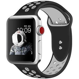 Bratara pentru Apple Watch 38mm/40mm, PROMATE Oreo-38SM, silicon, Small/Medium, negru-alb