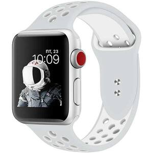 Bratara pentru Apple Watch 38mm/40mm, PROMATE Oreo-38ML, silicon, Medium/Large, gri-alb