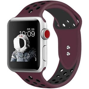 Bratara pentru Apple Watch 38mm/40mm, PROMATE Oreo-38SM, silicon, Small/Medium, maro-negru