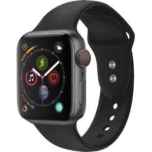 Bratara pentru Apple Watch 42mm/44mm, PROMATE Oryx-42SM, silicon, Small/Medium, negru