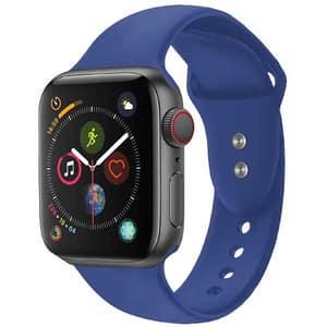 Bratara pentru Apple Watch 38mm/40mm, PROMATE Oryx-38ML, silicon, Medium/Large, albastru