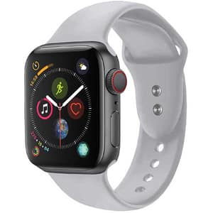 Bratara pentru Apple Watch 38mm/40mm, PROMATE Oryx-38SM, silicon, Small/Medium, gri