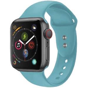 Bratara pentru Apple Watch 38mm/40mm, PROMATE Oryx-38ML, silicon, Medium/Large, albastru deschis