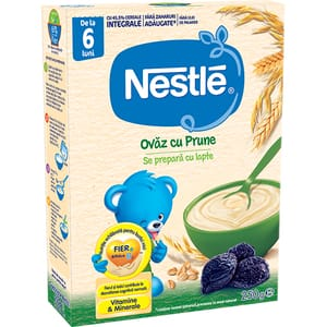 Cereale NESTLE Ovaz cu prune 12385741, 6 luni+, 250g