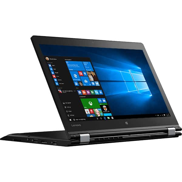 "Laptop 2 in 1 LENOVO ThinkPad P40 Yoga, Intel Core i7-6500U pana la 3.1GHz, 14"" Full HD, 8GB, SSD 256GB, NVIDIA Quadro M500M 2GB, Windows 7 Pro + Win 10 Pro, Negru"