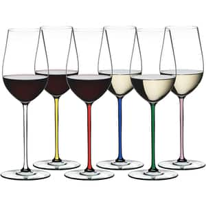 Set pahare RIEDEL Fatto A Mano Riesling-Zinfandel 7900/15, 0.395l, 6 piese, cristal