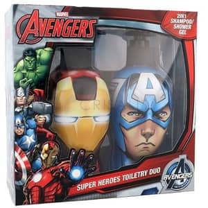Set MARVEL 159282: 2 in 1 Sampon & Gel de dus Iron Man 300ml + 2 in 1 Sampon & Gel de dus Captain America 300ml