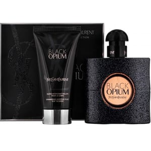 Set cadou YVES SAINT LAURENT Black Opium: Apa de parfum, 50ml + Lotiune de corp, 50ml