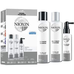 Set NIOXIN No.01: Sampon, 300ml + Balsam de par, 300ml + Tratament pentru par, 100ml