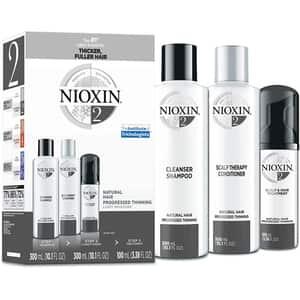Set NIOXIN No.2: Sampon, 300ml + Balsam de par, 300ml + Tratament pentru par, 100ml