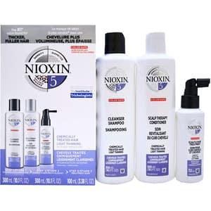 Set NIOXIM Sistem No.5: Sampon, 300ml + Balsam de par, 300ml + Tratament pentru par, 100ml