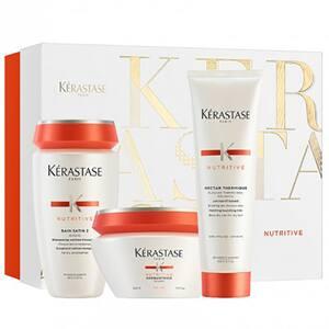 Set cadou KERASTASE Nutritive: Sampon, 250ml + Masca de par, 200ml + Tratament Leave-in, 150ml