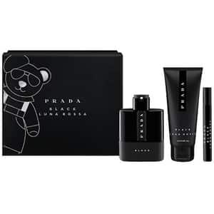 Set cadou PRADA Luna Rossa Black: Apa de parfum, 100ml + Gel de dus, 100ml + Apa de parfum mini, 10ml