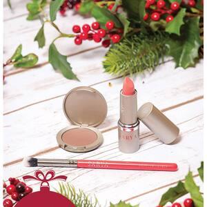 Set cadou SARYA Make-up Bio: Ruj, 4g + Fard de pleoape, 3.5g + Pensula
