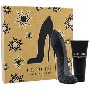 Set cadou CAROLINA HERRERA Good Girl Supreme: Apa de parfum, 80ml + Lotiune de corp, 100ml