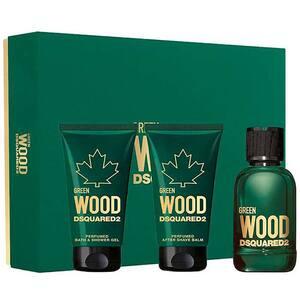 Set cadou DSQUARED2 Green Wood: Apa de toaleta, 50ml + Gel de dus, 50ml + After Shave, 50ml