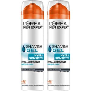 Set L'OREAL PARIS Men Expert Sensitive: Gel de ras, 2buc, 200ml