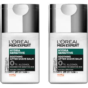 Set L'OREAL PARIS Men Expert Hydra Sensitive: After Shave, 2buc, 125ml