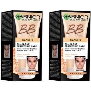 Set GARNIER Skin Naturals: Crema BB, Medium, 2buc, 50ml