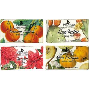 Pachet promo LA DISPENSA Florinda: Sapun cu portocale amare, 100g + Sapun cu fruct de cactus, 100g + Sapun cu ghimbir, 100g + Sapun cu gutui, 100g