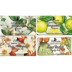 Pachet promo LA DISPENSA Florinda: Sapun cu trandafir pestrit, 100g + Sapun cu flori de bergamota, 100g + Sapun cu magnolie, 100g + Sapun cu fruct de cactus, 100g
