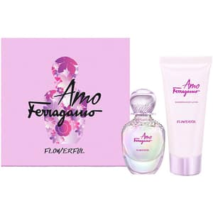 Set cadou SALVATORE FERRAGAMO Amo Flowerfull: Apa de toaleta, 50ml + Lotiune de corp, 100ml