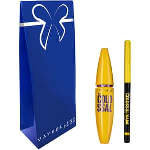 Set cadou MAYBELLINE NEW YORK: Mascara The Colossal, Black, 10.7ml + Creion de ochi Colossal Kajal, Extra Black, 0.25gr