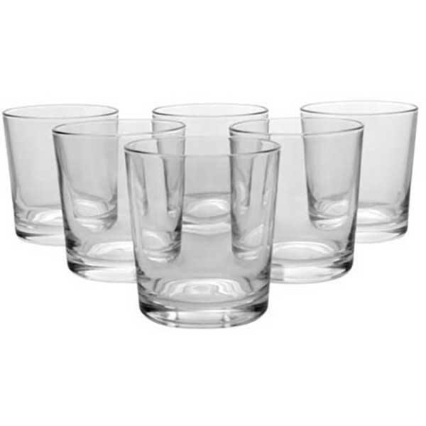 Set pahare whiskey PASABAHCE Alanya, 6 piese, 0.255l, sticla