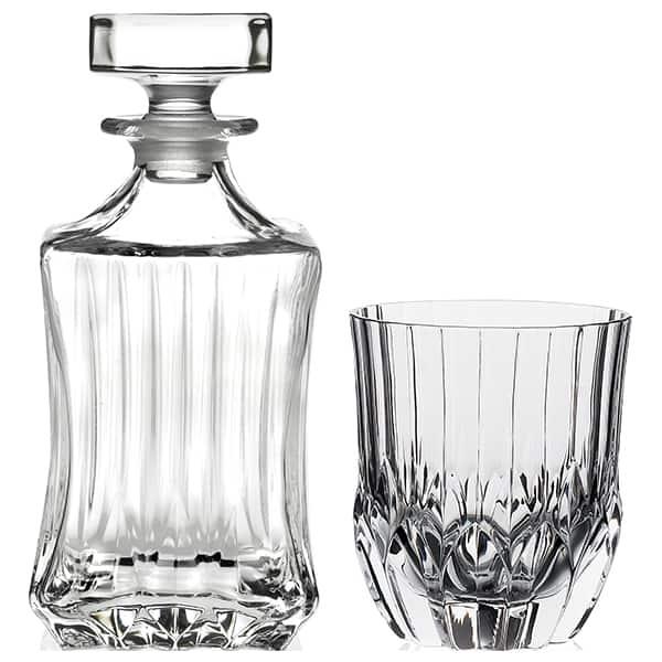 Set whisky RCR CRISTALLERIA 6632590: 6 pahare, 0.35l, luxion + 1 decanter, 0.75l, luxion