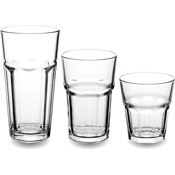 Set pahare MYRIA MY4178, 18 piese, 0.236-0.473l, sticla, transparent