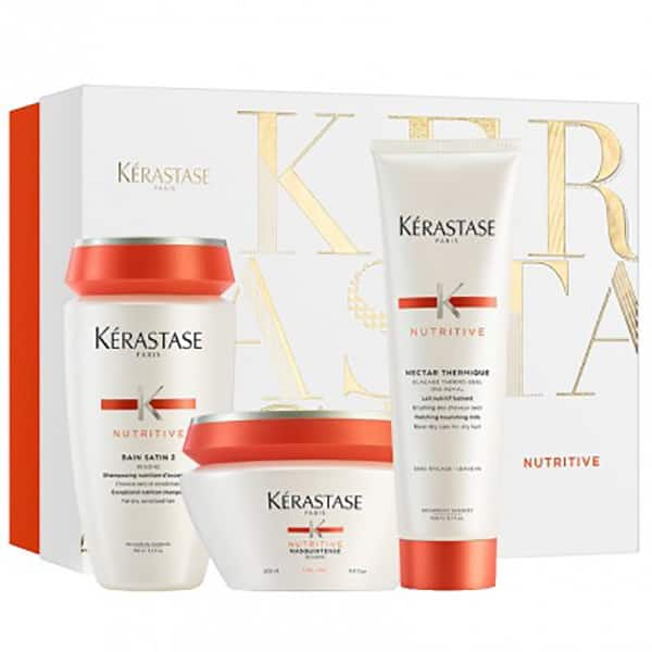 Set cadou KERASTASE Nutritive: Sampon, 250ml + Masca de par, 200ml + Tratament Leave-in, 150ml