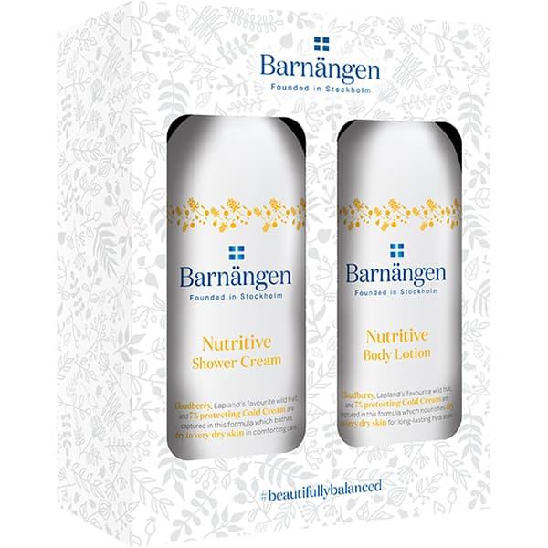Set cadou BARNANGEN Nutritive: Crema de dus, 400ml + Lotiune de corp, 400ml