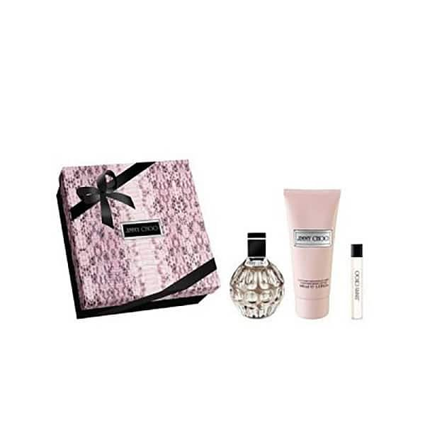 Set cadou JIMMY CHOO Jimmy Choo: Apa de parfum, 100ml + Lotiune de corp, 100ml + Apa de parfum, 7.5ml