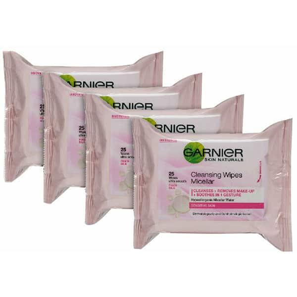 Pachet promo servetele demachiante GARNIER Skin Naturals, 4 x 25buc