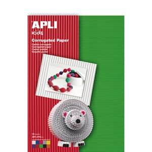 Carton ondulat APLI, A4, 10 coli, diverse culori