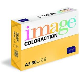 Hartie color pentru copiator COLORACTION, A3, 500 coli, galben-Hawaii