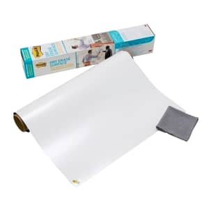 Folie autoadeziva whiteboard 3M, 120 x 90 cm, alb