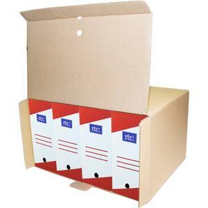 Cutie de arhivare RTC, 460 x 270 x 350 mm, carton,  5 bucati, maro