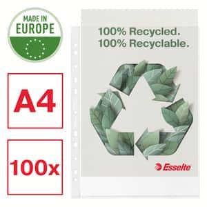 Folii protectie documente ESSELTE Recycled, 70 microni, 100 bucati