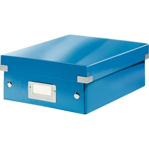 Cutie organizare LEITZ Click & Store Organizer, 281 x 100 x 370 mm, carton, albastru