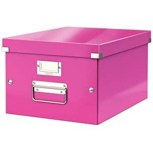 Cutie organizare LEITZ Click & Store, 281 x 200 x 370 mm, carton, roz